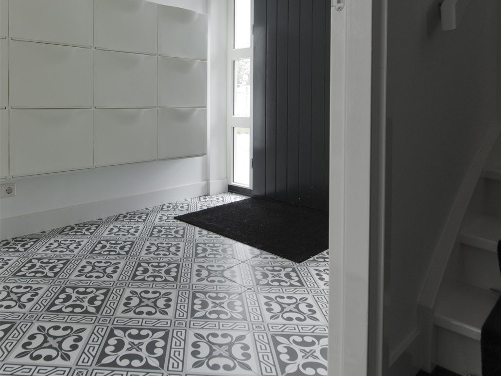 Carrelage sol aspect carreaux de ciment - Carrelage a clipser prix ...