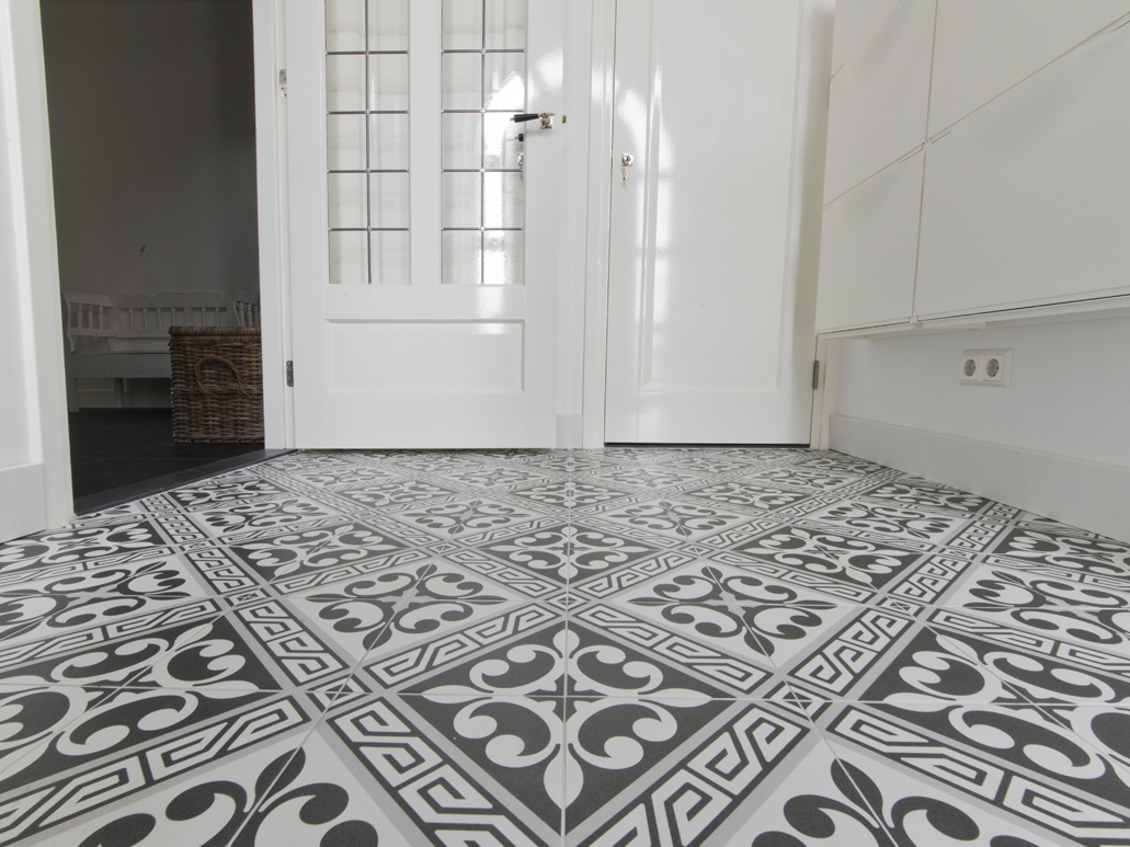 Carrelage sol aspect carreaux de ciment for Carrelage paris