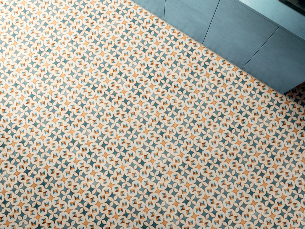 Carrelage sol aspect carreaux de ciment