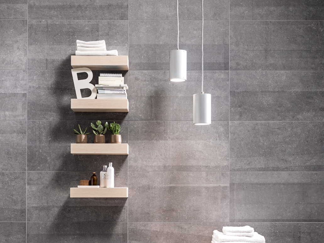 Promotion carrelage mur salle de bain aspect pierre fiordi for Boigelot carrelage