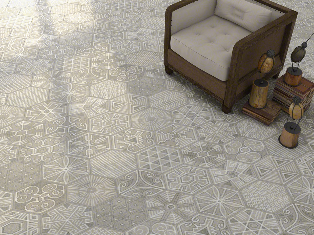 Carrelage sol hexagonal - Credence cement tegels ...