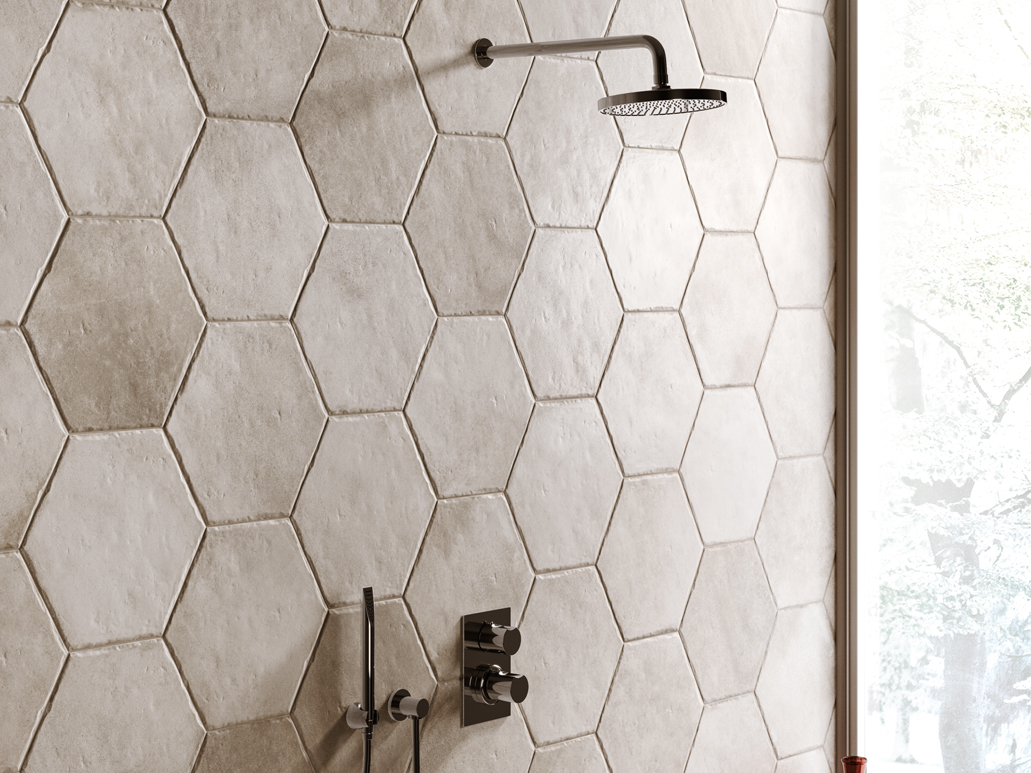 faience hexagonale carrelage hexagonal blanc sol et mur