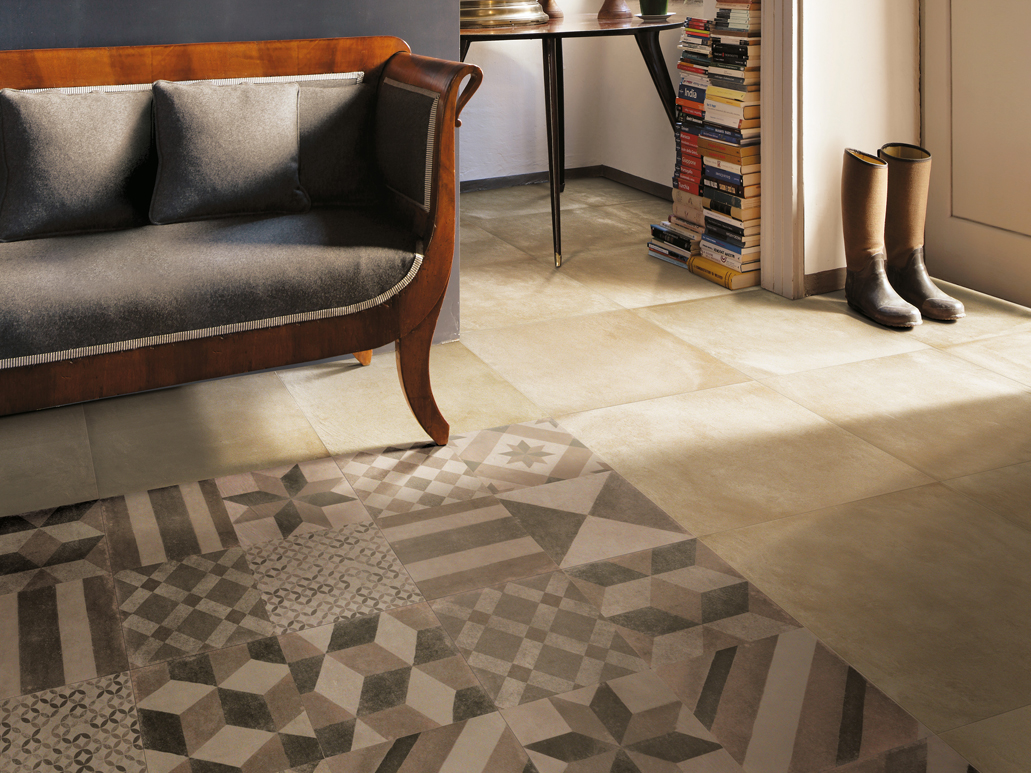 Carrelage sol aspect cottocemento